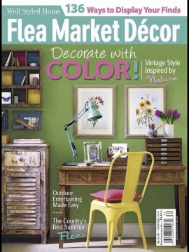 flea market d cor june july 2014 magazine