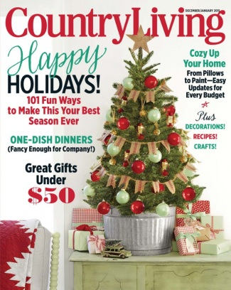 Country Living Magazine December January 2015 Issue Get Your Digital Copy