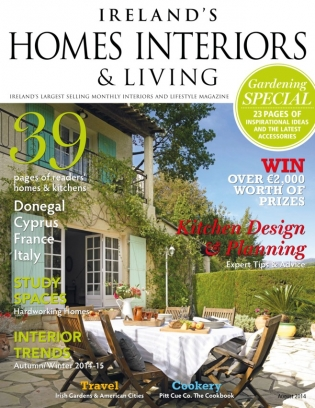 ireland 39 s homes interiors living magazine august 2014 issue get your digital copy. Black Bedroom Furniture Sets. Home Design Ideas